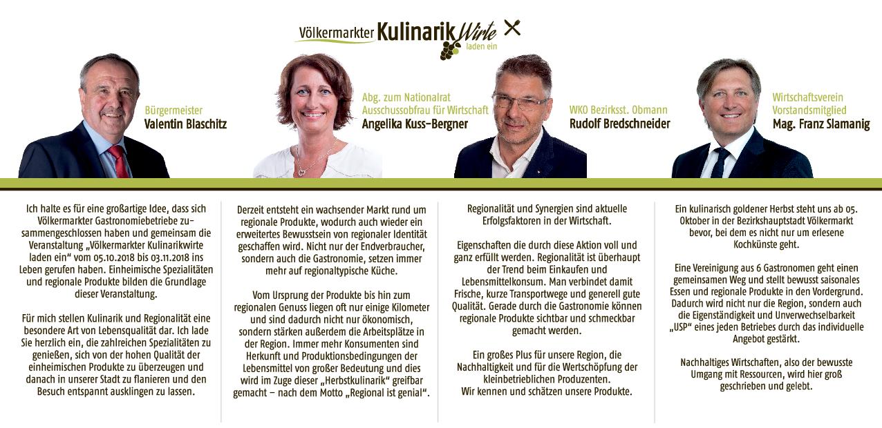 Projekt 2018 - Völkermarkter Kulinarikwirte