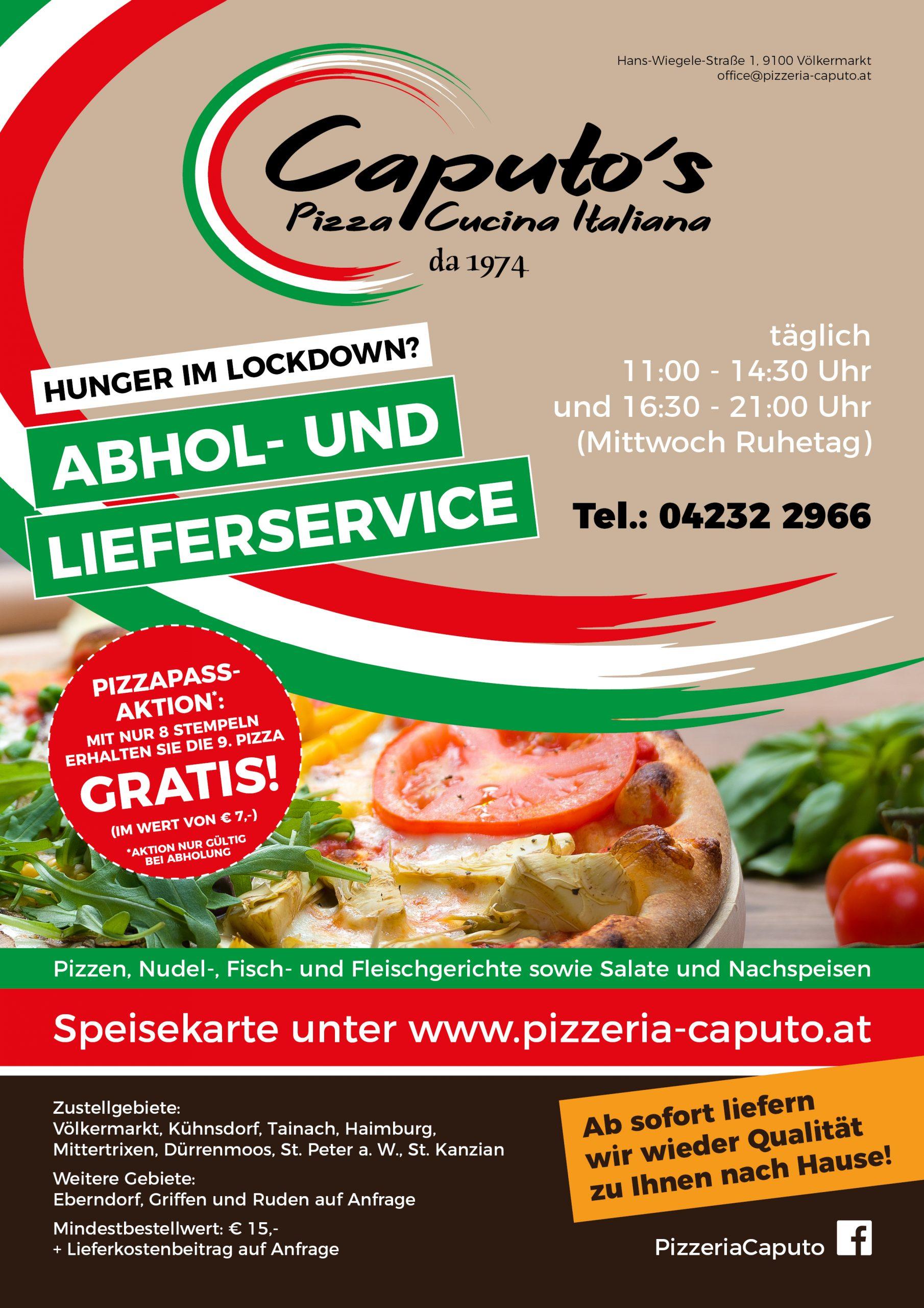 Caputo Lieferservice 03.11.2020